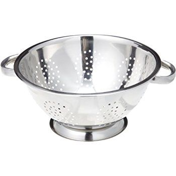 Amazon.com: ExcelSteel Stainless Steel Colanders, Set of 3: Kitchen & Dining