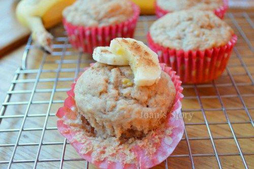 Bananen appelmoes muffins clean eating recept