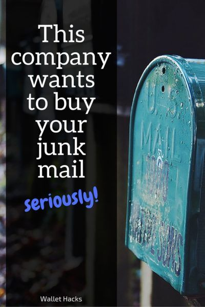 Junk mail is so annoying! But there's little we can do to stop it, so why not see which company will take your junk mail and give you money for it?