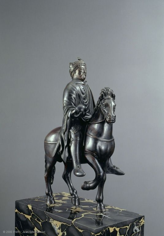 Equestrian statue: Charlemagne or Charles the Bald  Horse: Late Byzantine Empire (or possibly 9th century).