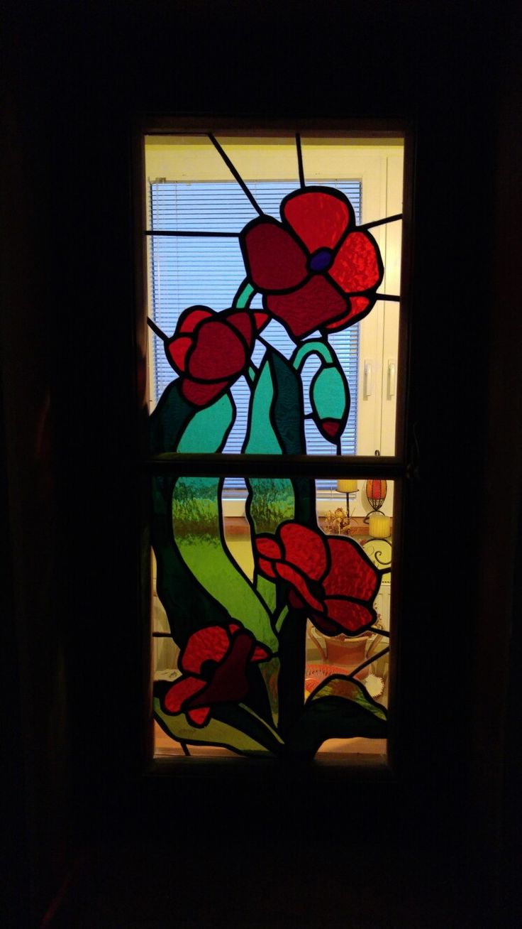 Vitrážové okno. Technika Tiffany.
