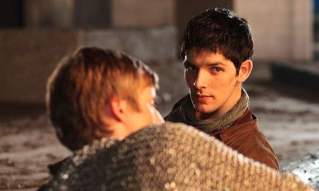 Arthur (Bradley James) and Merlin (Colin Morgan) in Merlin: the series' dynamic depends on the future king not realising his servant is a mi...