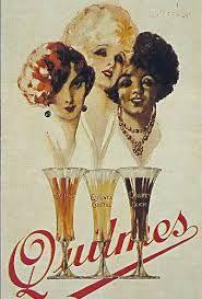 "Afiche publicitario de la cerveza ""Quilmes""   -lbk-"
