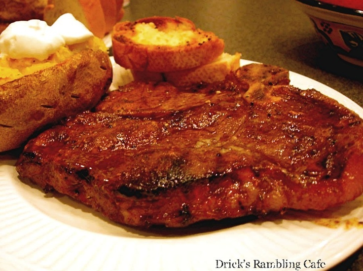 Grilled T-Bone Steak with Chili Rub