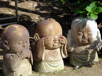Speak no evil, See no evil and Hear no evil. Great exercises to build personal 'muscle.'