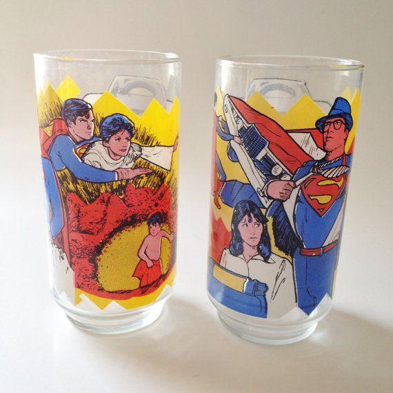 Vintage Superman Glasses 1978 Made by Pepsi by kraftskeepmesane