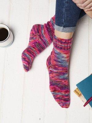 Cosy Socks Free Knitting Pattern For Beginners Knitting Socks