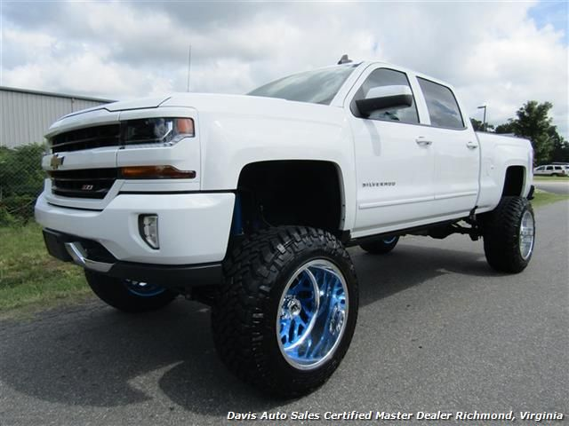 2016 Chevrolet Silverado 1500 LT Z71 Lifted 4X4 Full Crew Cab Short Bed $49,995 - Visit us at www.davisautosales.com or www.davis4x4.com for more information and vehicles for sale!