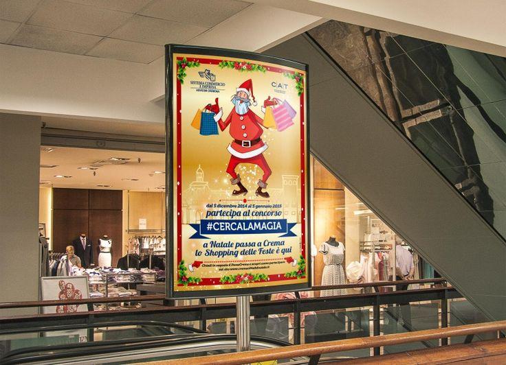 Sistema commercio Impresa (Asvicom) poster per iniziativa natalizia.