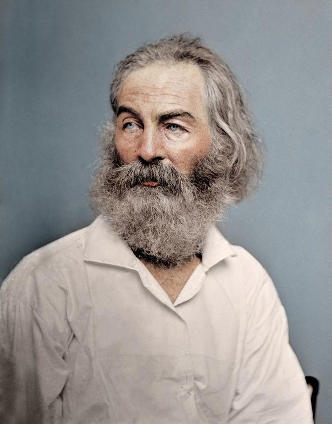 Американский поэт Уолт Уитмен, 1868 год
