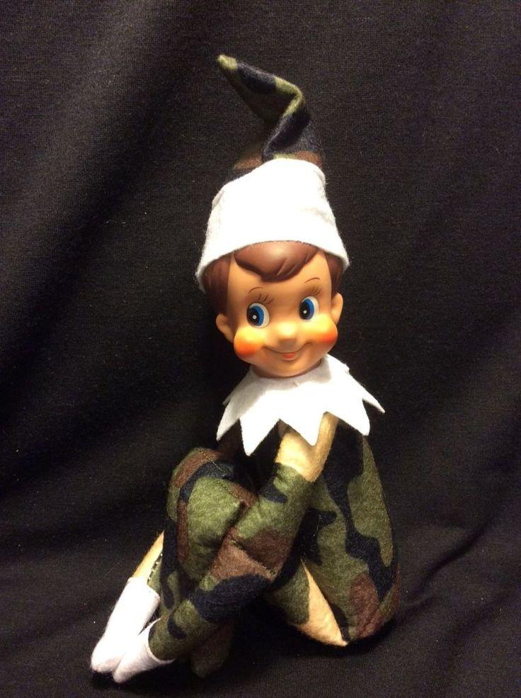 "Elf on the shelf New Rare Camo plush elf doll 10"" Elf"