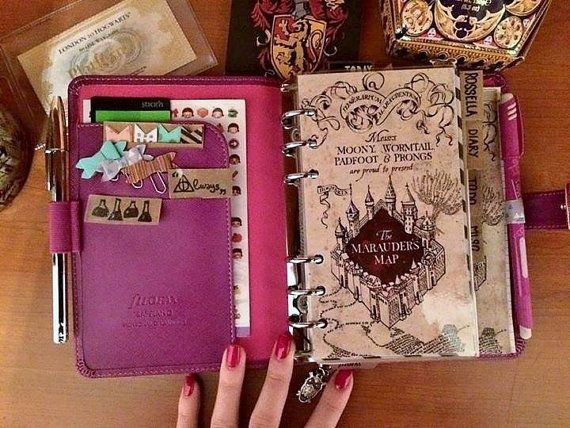 Filofax planner dividers HARRY POTTER-personal by PlannerAddicted ||| filofax, student, agenda, time management, schedule, organisation, Marauder's Map, title page, divider, dashboard, inspiration, inspo                                                                                                                                                                                 Más