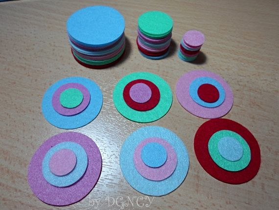 72 pcs Die cut felt circlecraft suppliesFelt shapes by DGNCY