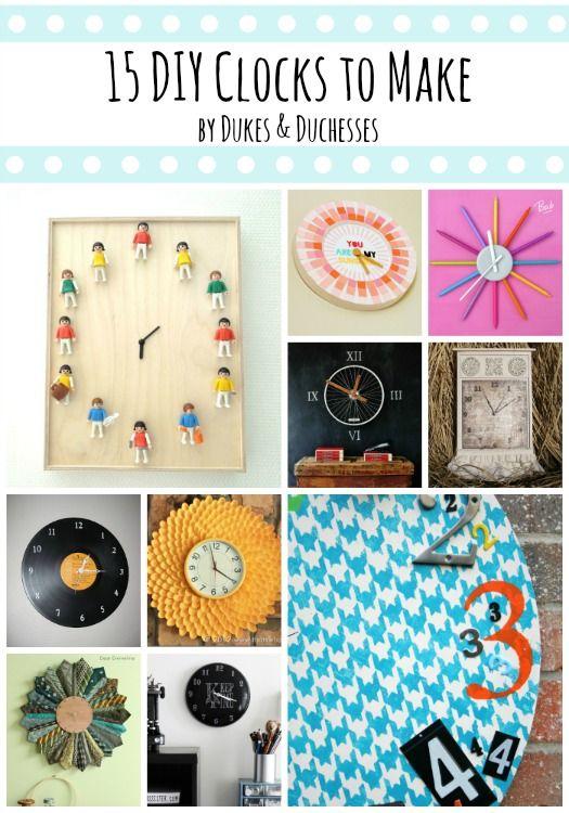 53 best clock crafts images on pinterest diy clock clock ideas 15 diy clocks to make solutioingenieria Images