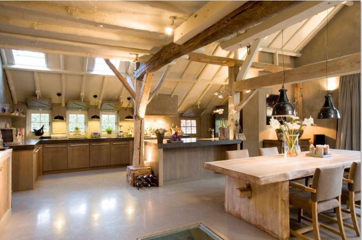 #thelivingkitchen #paulvandekooi #maatwerk #homemade #dutchdesigner #concrete #beton #viking #oak #landelijkmodern #keuken #kitchen
