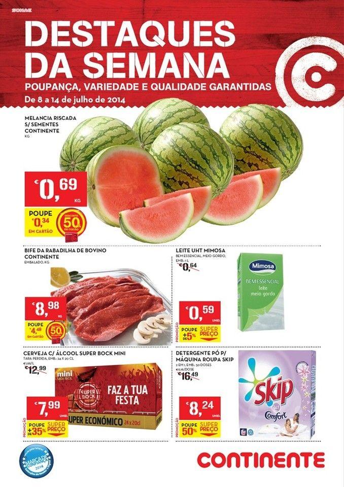 Promoções Folheto Continente Online - de 8 a 14 de julho