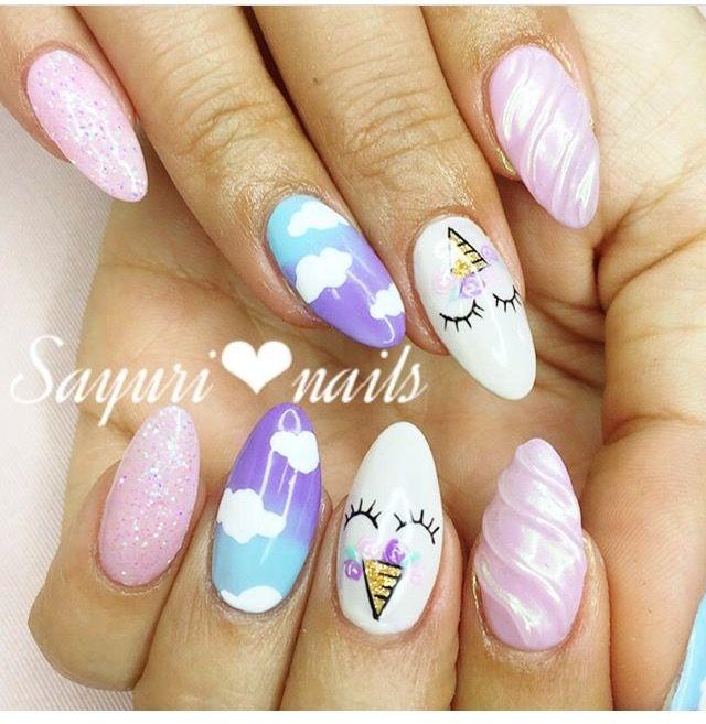 Unicorn Nails Unicorn Nails Holiday Nails Nail Designs