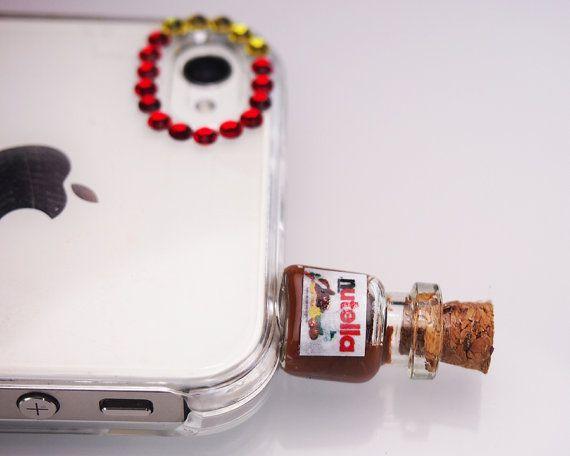 Nutella Pluggy/AntiDust Stopper for Phone/Iphone plug/Headphone Jack/ Plug on Etsy, $9.49 CAD