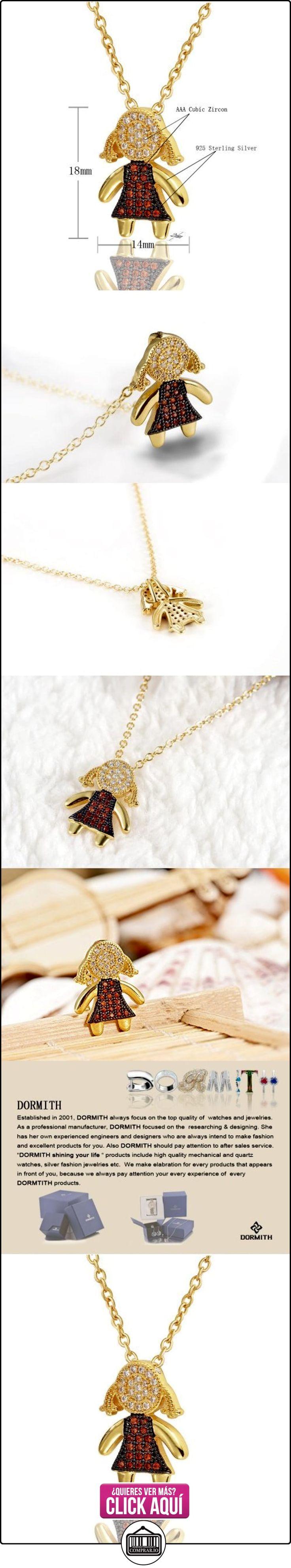 Dormith® Plata de ley 925 Ópalo de fuego sintético y AAA circonio cúbico collares para las mujeres Linda Chica colgante de collar rosa chapado en oro moda joyas  ✿ Joyas para mujer - Las mejores ofertas ✿ ▬► Ver oferta: http://comprar.io/goto/B00N5FOZB2