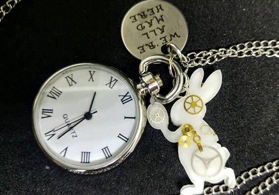 Alice nel Paese delle Meraviglie  collana orologio con