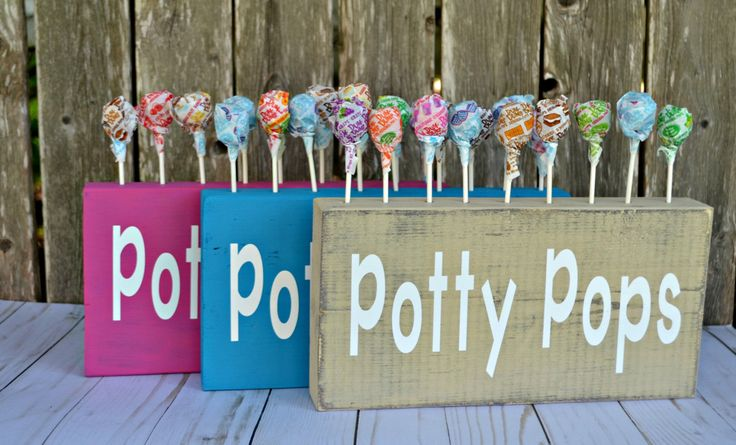 Potty Pops, Potty Training, Gift for Toddler, Gift for preschool teacher, Daycare Provider Gifts, Grandchildren, Gag Gift, Lolipop Holder by CaffeineAndWine on Etsy