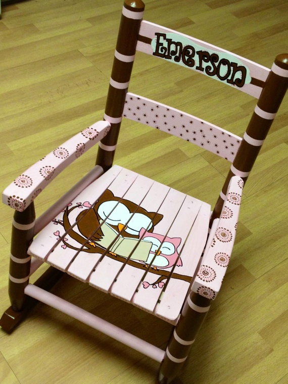 Child's Rocking Chair custom design by MakinItMamaStyle on Etsy, $125.00