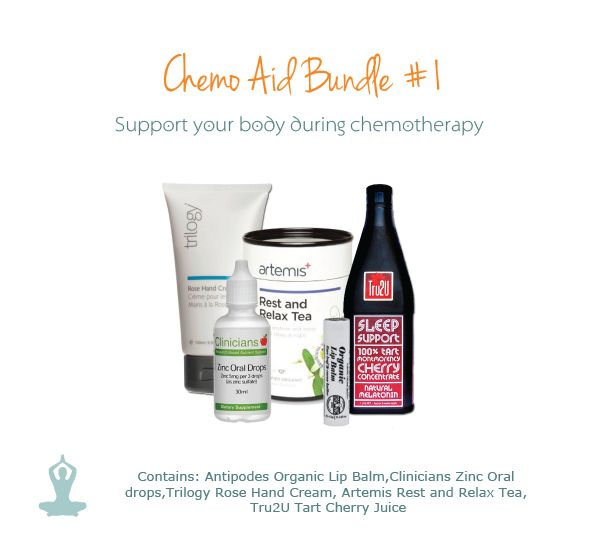 Imagine being diagnosed with cancer before Christmas and having to under-go chemotherapy while all around there is merriment. Show you care by giving a gift that truly helps - the Chemo Aid Bundle #1.