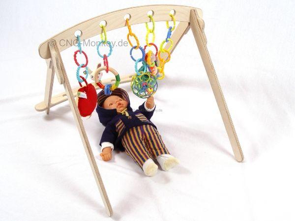Spielbogen 2in1 Spieltrapez Spieltrainer Spielcenter Holz