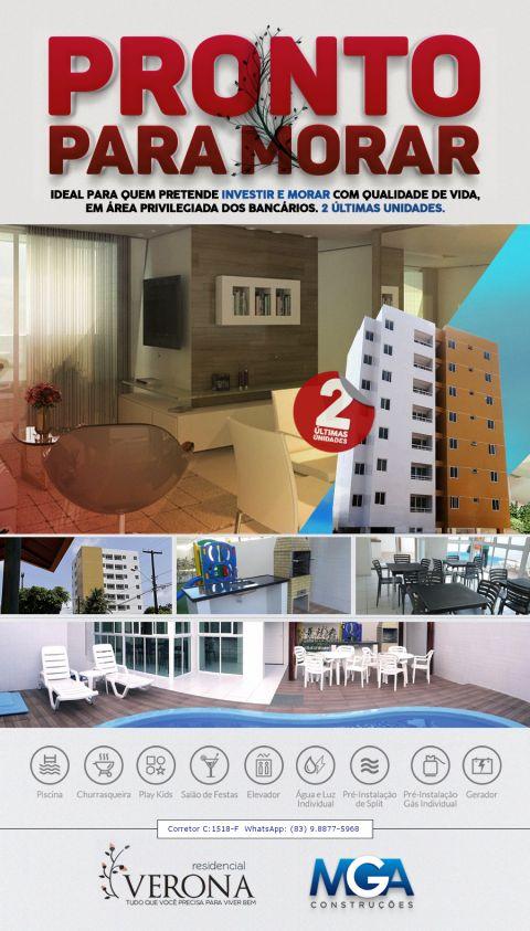 Apartamentos novos, prontos, 2 e 3 quartos, sendo um suíte, no Anatólia/Bancários, João Pessoa - PB.