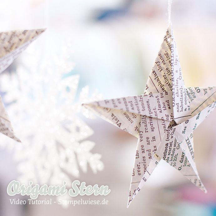 Ich habe vor ein paar Tagen euch einen schicken Origami Stern gezeigt und natürlich habe ich darüber wieder eine Video Anleitung gemacht, so dass auch ihr euch Sterne basteln könnt Diese Sterne passen prima an den Weihnachtsbaum, da sie sehr leicht sind, oder als Topping auf einem eingepackten Geschenk. Auch am Fenster kann ich sie...