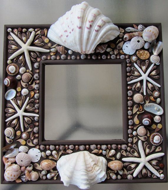 Hey, I found this really awesome Etsy listing at https://www.etsy.com/listing/113785443/cottage-chic-shells-beach-theme-mirror