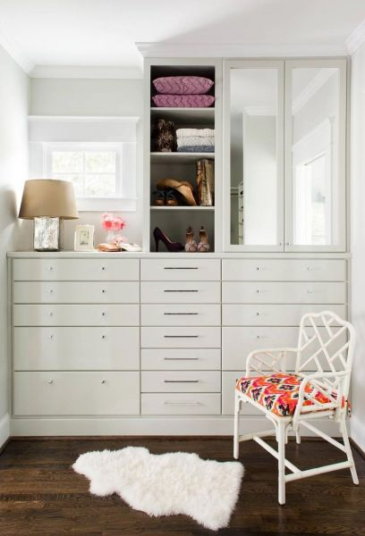 clean + contained closet.