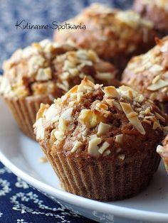 Kulinarne Spotkania: Cynamonowe muffinki z jabłkami i migdałami
