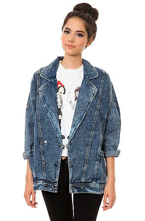 The Oversize Denim Jacket in Indigo by *MKL Collective