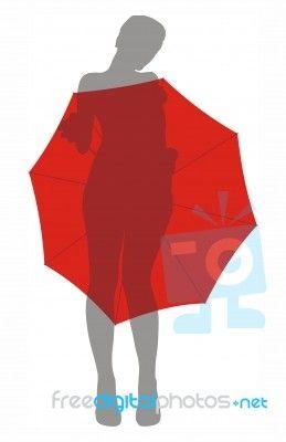 """""""Girl Under Umbrella"""" by Vlado at FreeDigitalPhotos.net"""