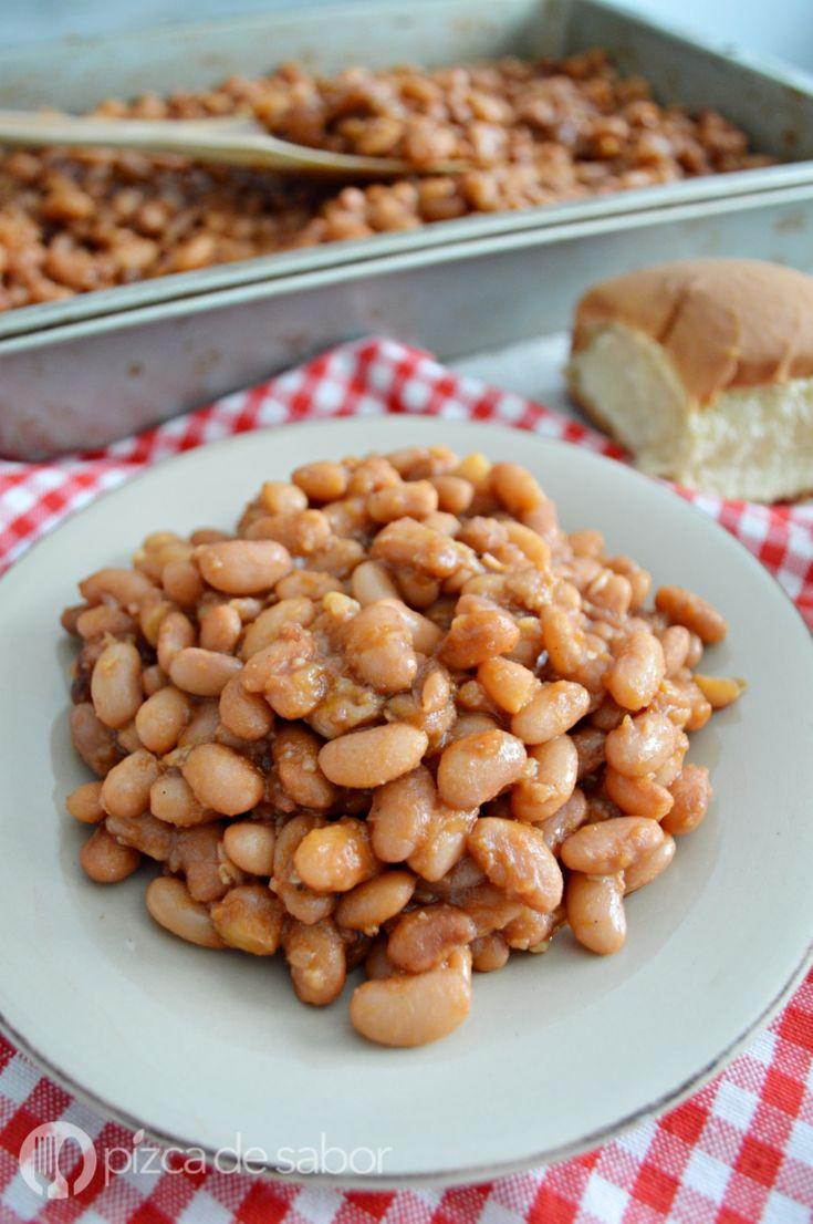 Frijoles estilo horneados o baked beans www.pizcadesabor.com