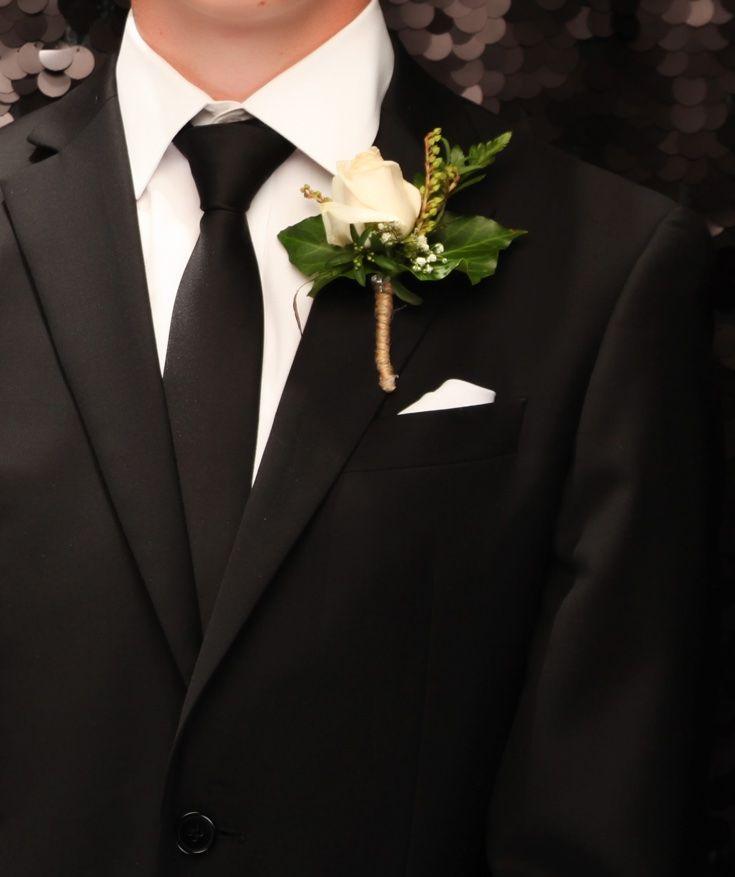 St Kentigern College Ball 2016.  Classic cream rose. www.whitedoor.co.nz