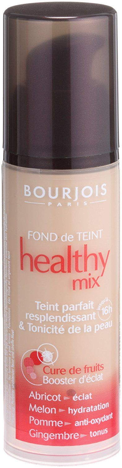 Bourjois Paris - Healthy Mix Foundation Bourjois Healthy Mix Foundation 16 Hour Glowing Complexion & Toned Skin Fruit Therapy Apricot -  Read more http://cosmeticcastle.net/bourjois-paris-healthy-mix-foundation/  Visit http://cosmeticcastle.net to read cosmetic reviews