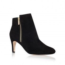 Kurt Geiger | SAGE Black Mid Heel Boots by Miss KG