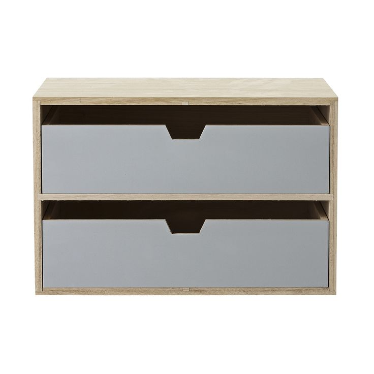 Bloomingville Storage Box with 2 Drawers, Natural/ | ACHICA