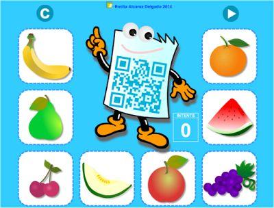 Us oferim la primera activitat de la sèrie QR per als més petits… I, per què no ? de l'Emilia Alcaraz Delgado adreçada a l'alumnat de l'últim curs d'Educació Infantil i de Cicle Inicial, amb la que podran practicar la comprensió lectora, a partir de definicions senzilles del vocabulari bàsic: colors, animals, eines, fruites i material escolar.  La novetat d'aquest joc és la necessitat d'utilitzar un dispositiu mòbil, per poder realitzar la lectura de les frases que amaguen els diferents QRs.