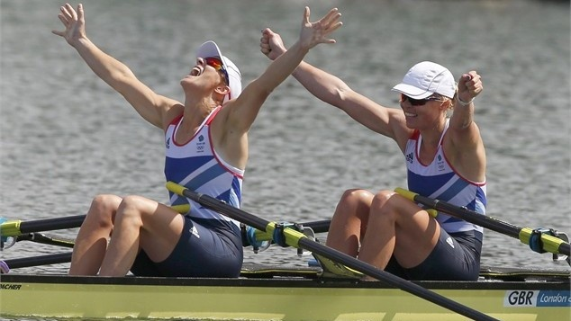 Great Britain's Katherine Grainger finally ends her silver medal hex, taking a deserved gold in the Women's Double Sculls