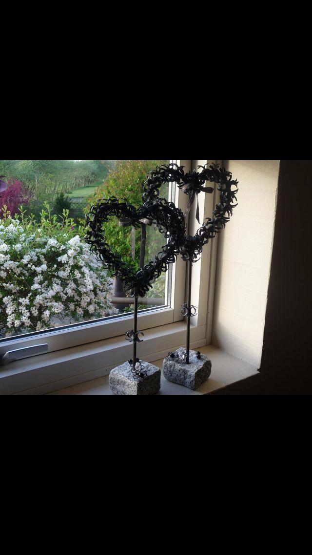 Hjerter lavet af cykelslanger
