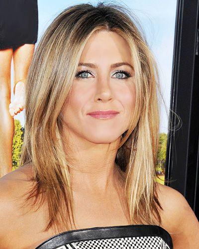 Jennifer Aniston's Choppy Layers  WHAT TO ASK FOR: While Aniston's current style is a grown-out version of her A-line bob, you can achieve the same look by asking your stylist to create a long bob that hits just below the collarbone, cut with layers in varied lengths.
