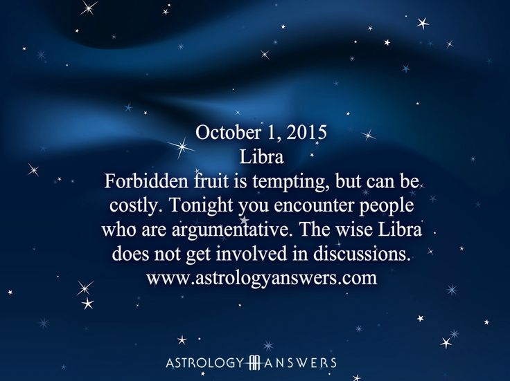 The Astrology Answers Daily Horoscope for Thursday, October 1, 2015 #astrology