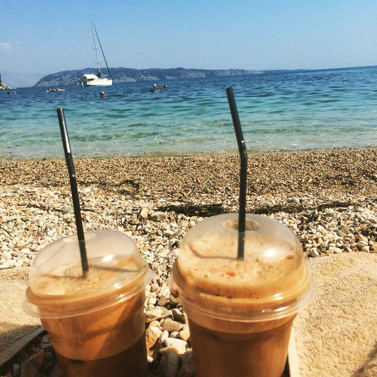 Coffee,lastday,corfu,kalami,beach,relax,sunbathing,iwannagoback.