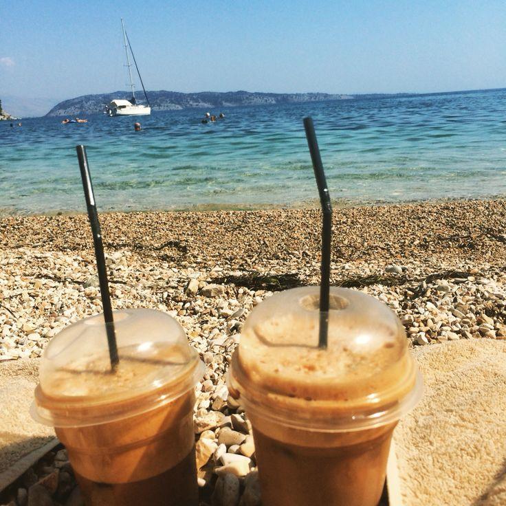 Coffee,lastday,corfu,kalami,beach,relax,sunbathing,iwannagoback.