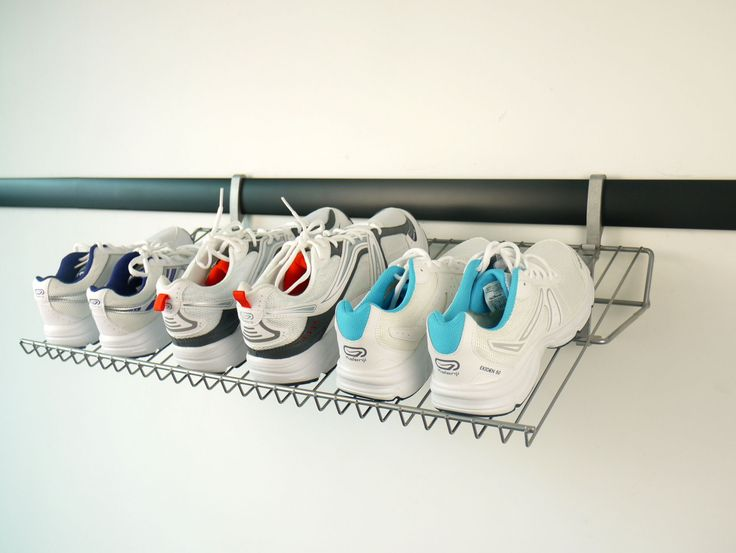Shoe Organisation in your garage or laundry is so easy:  http://www.mygarage.co.za/pGSH26/Shoe-Shelf-700mm.aspx
