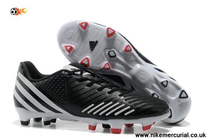 Black White Adidas Predator LZ TRX FG TPU