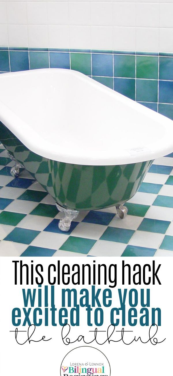 How To Get Your Bathtub Squeaky Clean Cleaning Hacks